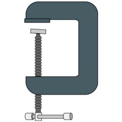 C型クランプ